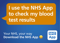I use the NHS App to Check my Blood Results